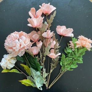 Lot of 6 silk floral stems from Michaels
